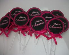Toppers  Personalizados Pink e preto