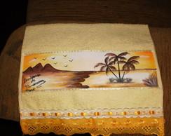 toalha de m�o pintada a m�o
