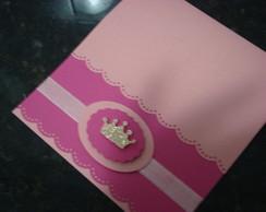 Convite personalizado Princesa Rosa/Pink