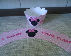 Wrapper Para Cupcake Minnie Rosa
