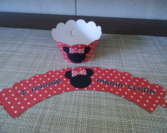 Wrapper Para Cupcake Minnie Vermelha