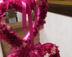 Guirlanda Hort�ncia Pink  Desidratada I