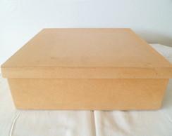 caixa tampa sapato em mdf cr� 32x27x8