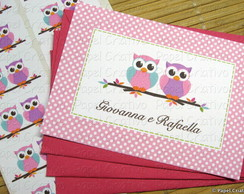 Cart�o Personalizado - corujas irm�s