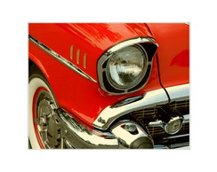 Placa MDF Retr�- Red Car Lights - 618