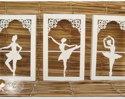 Trio de Quadros Bailarina