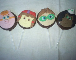 Pirulitos de chocolate Super Why