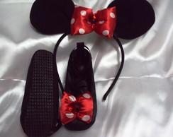 Kit, Sapato E Tiara Da Minie