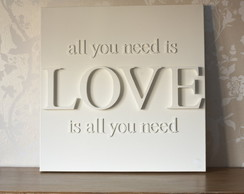 "Tela ""all you need is Love"" personalizad"