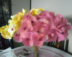 Flores Artesanais de tecidos
