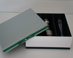 Caixa Para Padrinhos Verde e Branco