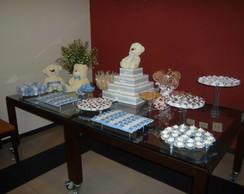 mesa pronta de ch� de beb� com tema de
