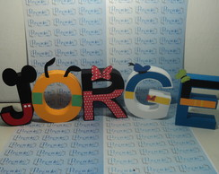 Letras Decorativas Tema Mickey