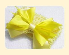 Faixa tran�ada amarela com la�o