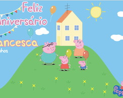 Peppa Pig Painel de Parede Festa digital