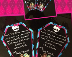 convite caix�o monster high
