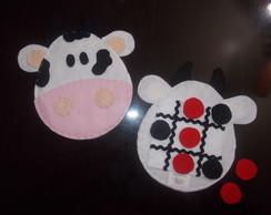 Jogo da velha Fazendinha - Boi ou Vaca