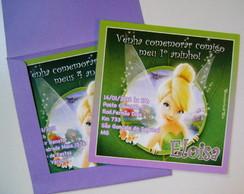 Convites Tinker Bell Quadrado
