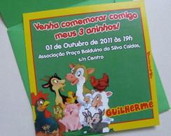 Convites Anivers�rio Infantil Fazendinha