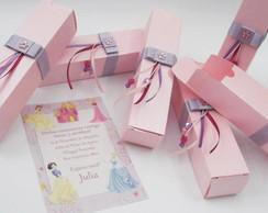 Convites Princesas Rolinho na Caixa