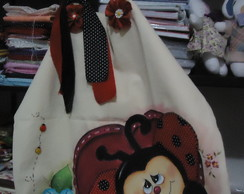 Eco-bag com pintura country