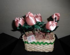 Vasos de tulipas