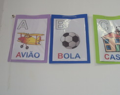 Alfabeto Ilustrado EVA/Escola/SALAdeAULA