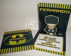 Convite Batman Popup 3D