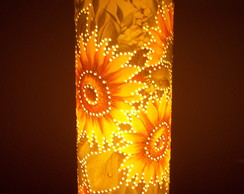 Lumin�ria de pvc com  decoupagem