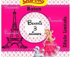 R�tulo Baton 6,5x6,5 Cm Barbie