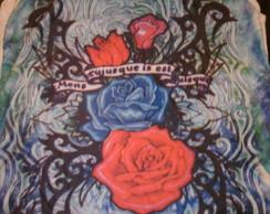 Camiseta Regata Flores Tamanho G
