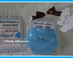 Convite Fraldinha azul