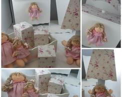 Kit quarto/higiene boneca encantada