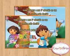 Convite Dora Aventureira e Go Diego Go