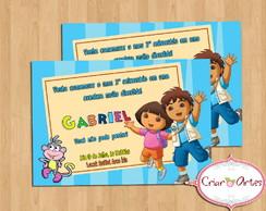 Convite Dora e Diego Azul