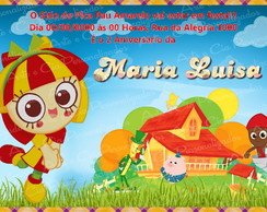 Convite Sitio do Pica Pau Amarelo