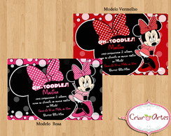 Convite Minnie Rosa e Vermelha