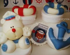 Ursinho Marinho (Branco,Azul e Vermelho)