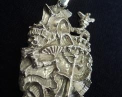 Pingente Orix� Oxaluf� em prata...