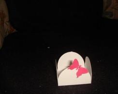 Forminha de papel com aplica��o e strass