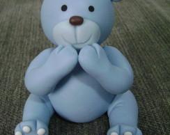 Topo De Bolo - Ursinho Azul