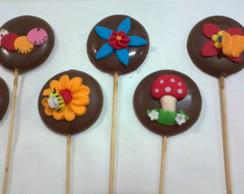 Pirulitos De Chocolate- Jardim Encantado