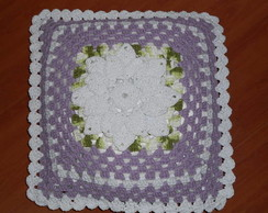 Capa Para Almofada De Croch� Floral