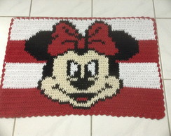 Tapete Croch� Barbante Personagem Minnie