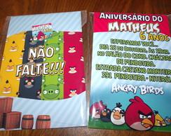 Revista Convite Angry Birds