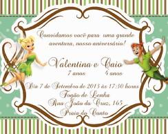 Convite Tinkerbell e Peter Pan