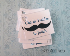 Tag Lembrancinhas Mustache: 50 tags!