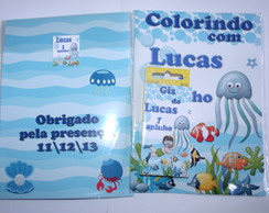 Kit Colorir fundo do mar