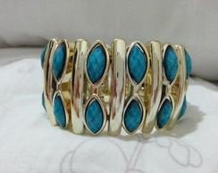 Bracelete Azul e Dourado