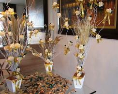Trio dourado de mini-�rvores francesas I